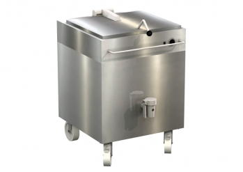 Additional cooking kettle, angular, with thermostatic control