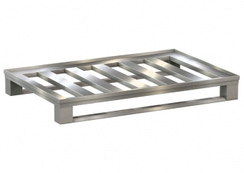 Aluminium flat pallet with horizontal bars Item no. and confinement profile