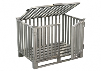 Aluminium safety box pallet, lockable