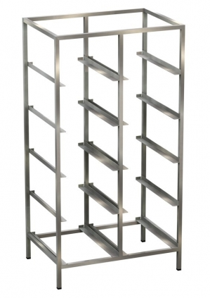 Euro-norm shelf unit with hanging rails Example 1