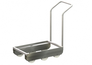 Transport roller with pushing handle